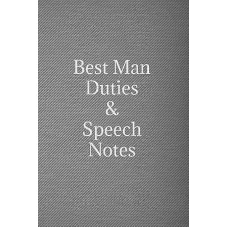 Best man duties & speech notes : Black & silver wedding lined notebook