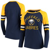 Buffalo Sabres Fanatics Branded Women's Iconic Long Sleeve T-Shirt - Navy/Gold