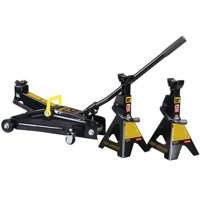 Torin 'Black-Jack' Trolley Jack and (2) Jack Stands Bundle