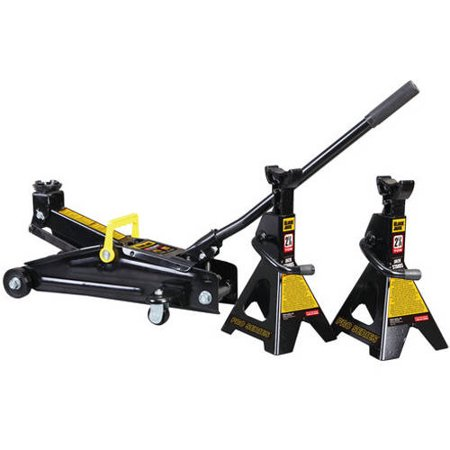 Torin 'Black-Jack' Trolley Jack and (2) Jack Stands (Best 3 Ton Floor Jack For The Money)