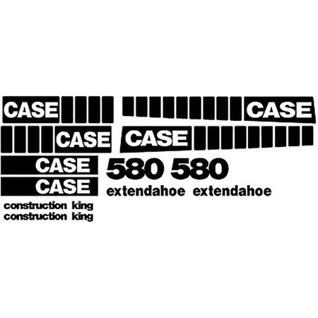 New Case 580 EXT Extendahoe Construction King Backhoe Loader Whole Decal -