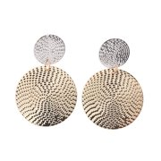 MIARHB Fashion Simple And Generous Round Bump Size Exaggerated Pendant Earrings Jewelry