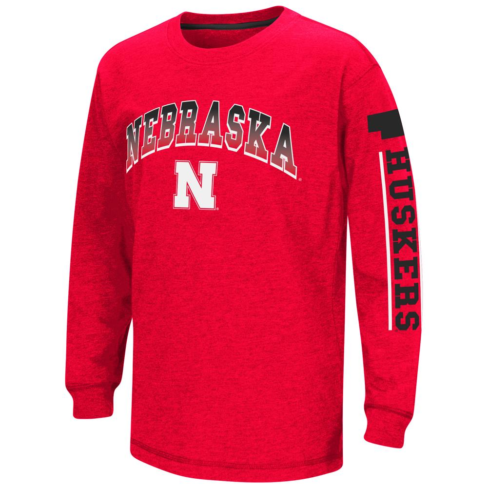 "Nebraska Cornhuskers NCAA ""Grandstand"" Long Sleeve Dual Blend Youth T-Shirt by Colosseum"