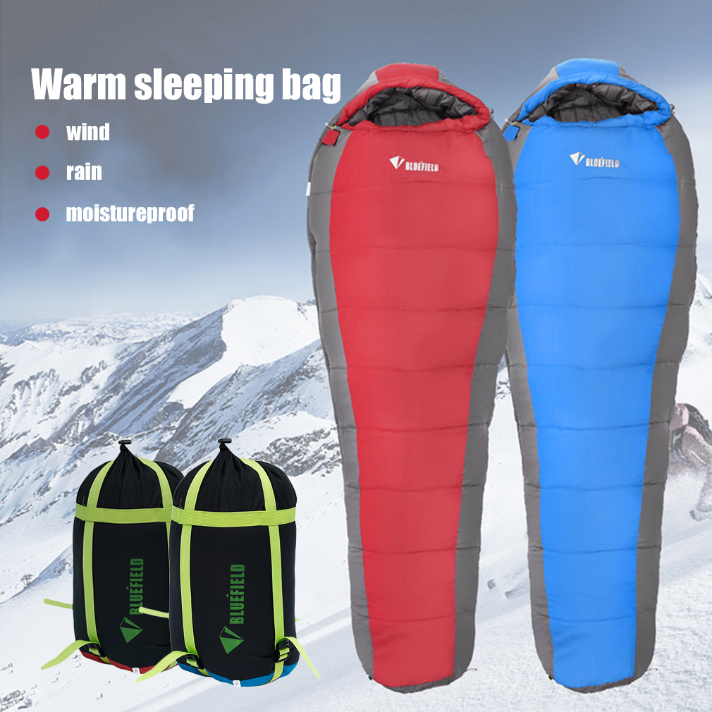 New-5 Sleeping Bag For Adult Camping Hiking With sleeping Bag Mummy Sleeping Bag by