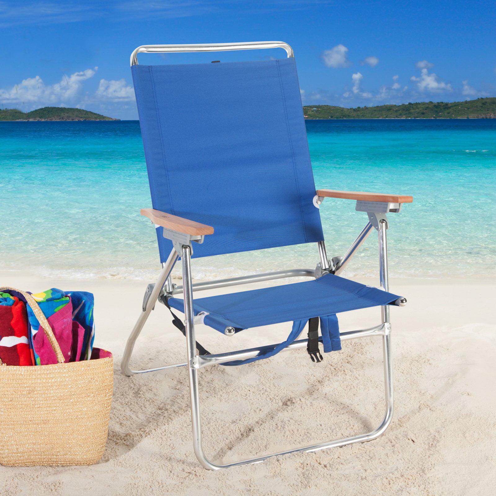 Rio Blue Hi Boy Backpack Beach Chair with Cooler Walmart