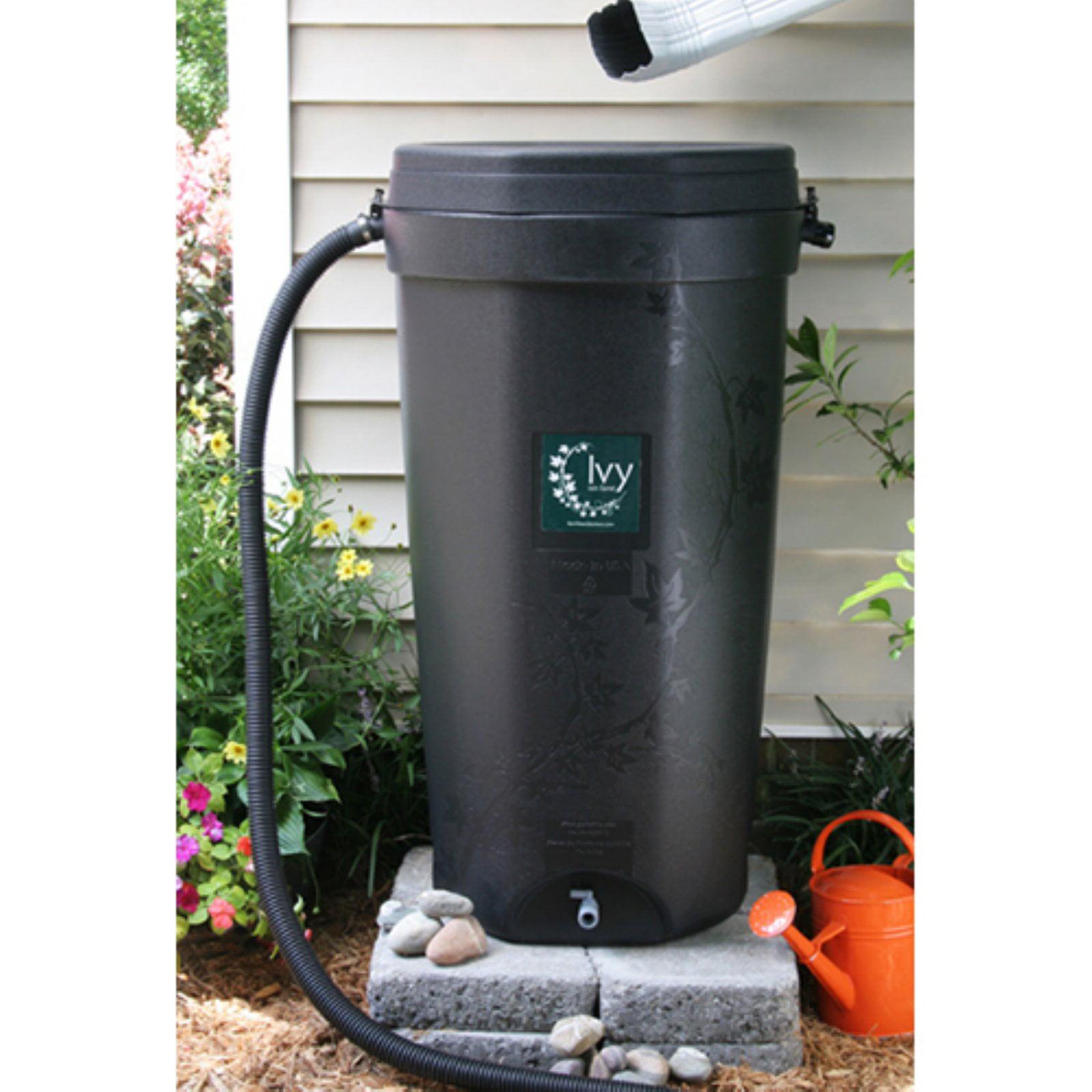 Rain Water Solutions 50 Gallon Recycled Plastic Rain Barrel
