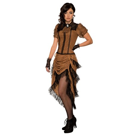 Womens Last Dance Saloon Girl Halloween Costume](Plus Size Saloon Girl)