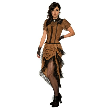 Womens Last Dance Saloon Girl Halloween Costume - Funny Last Minute Couples Halloween Costumes