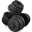 SmileMart 66 lbs Adjustable Dumbbell Set