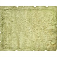 """Hawthorne Collection 1'7"""" x 2'6""""  Faux Sheepskin Area Rug in Green"""