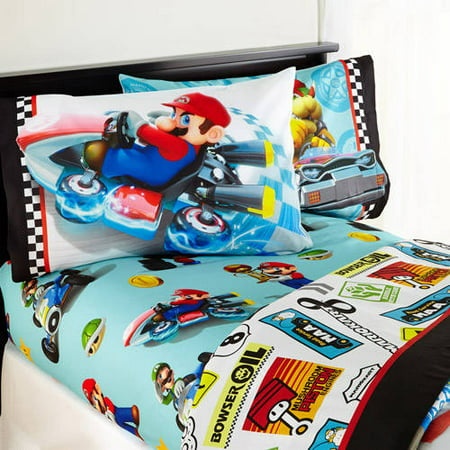 Maria Sheet Set - Mario 'Road Rumble' Bedding Sheet Set