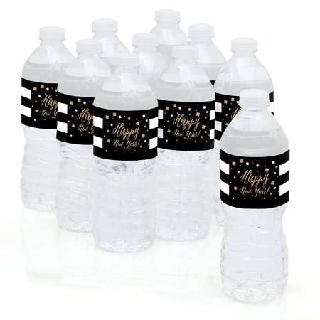 new years eve gold new years eve party water bottle sticker labels set