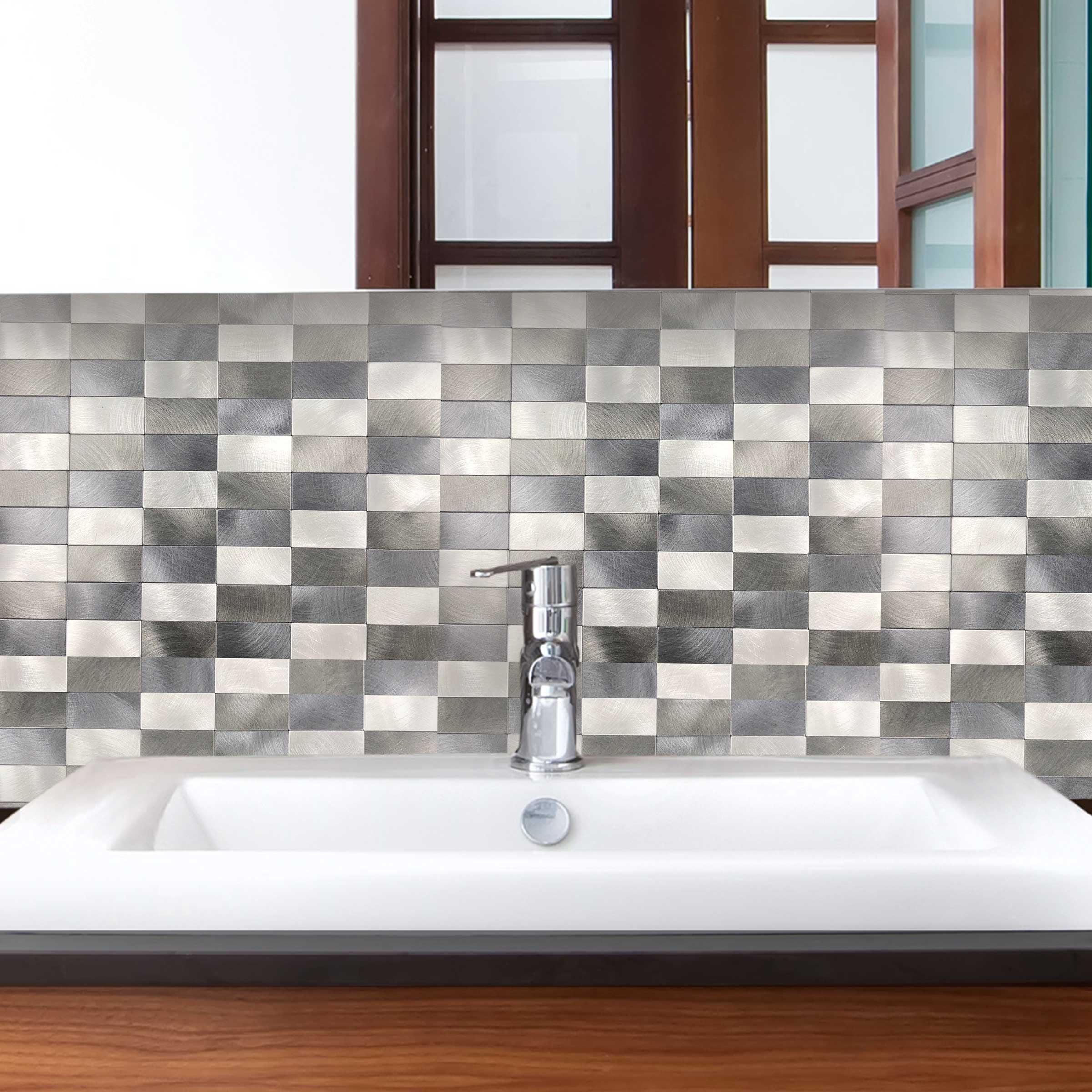 - DIP Copper Wire 12 X 12 Self-Adhesive PVC Aluminum Tile Backsplash