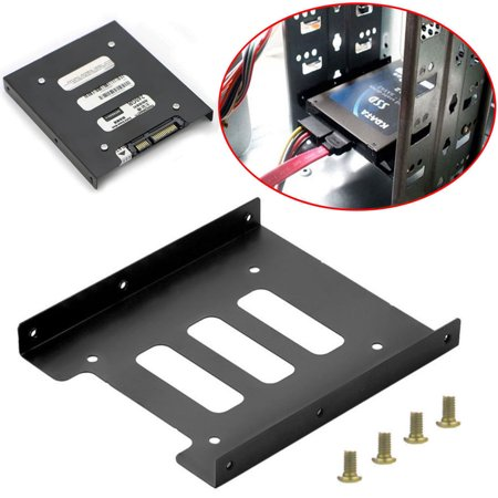 "2.5"" to 3.5"" SSD HDD Hard Disk Drive Holder Metal Mounting Bracket Dock Adapter"