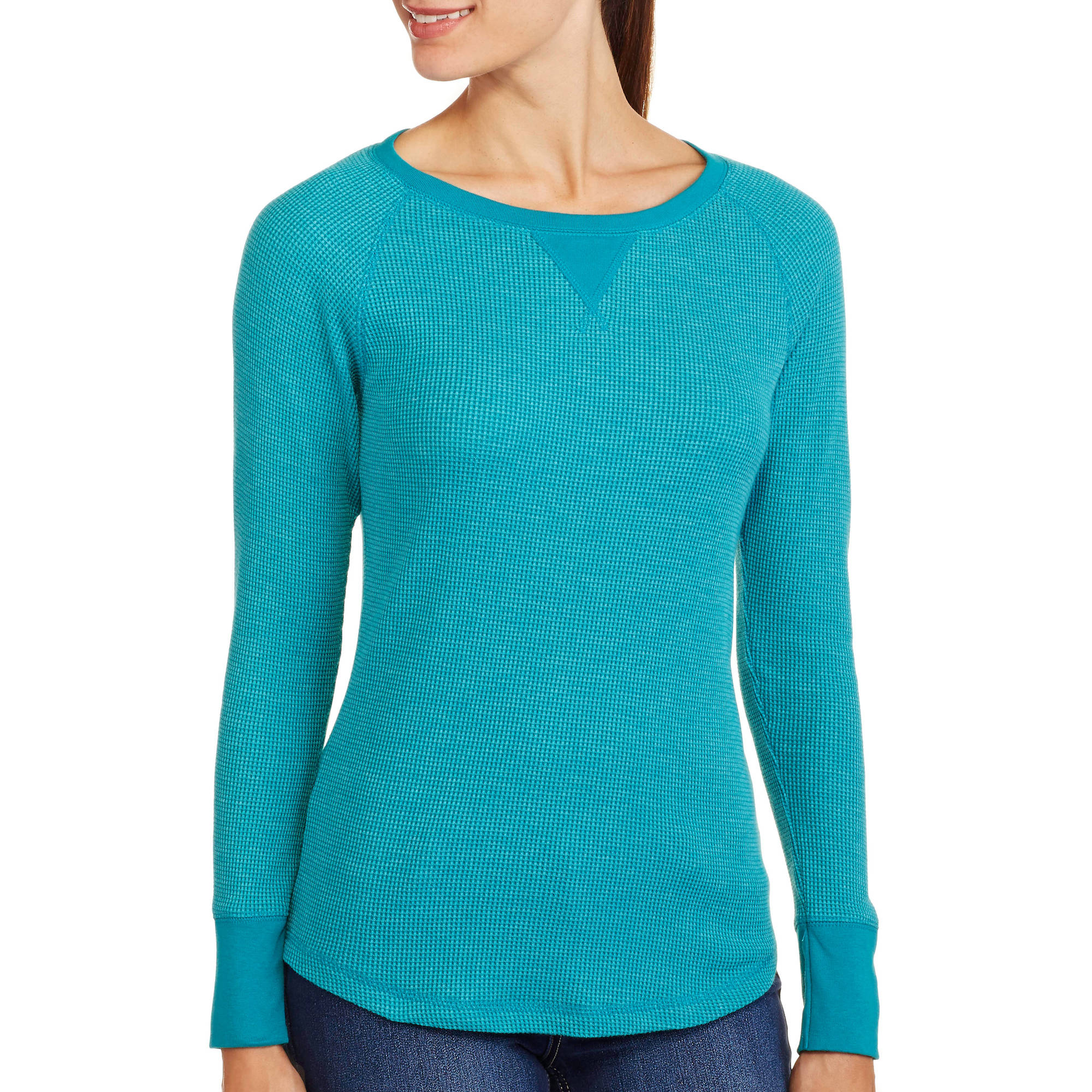 Faded Glory Women's Long Sleeve Raglan Thermal