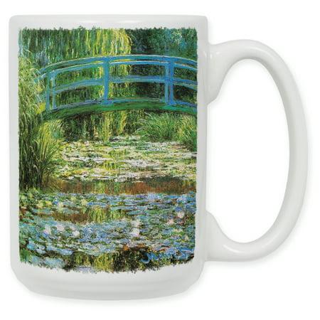15 Ounce Ceramic Coffee Mug - Monet: Japanese Footbridge