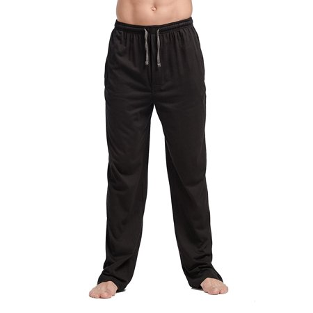 CYZ Men's 100% Cotton Jersey Knit Pajama Pants/Lounge Pants With Drawstring