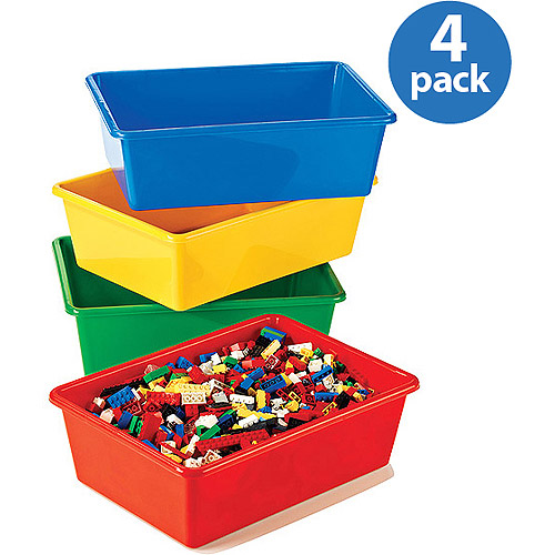 Tot Tutors - Primary Colors Large Storage Bins, Set of 4