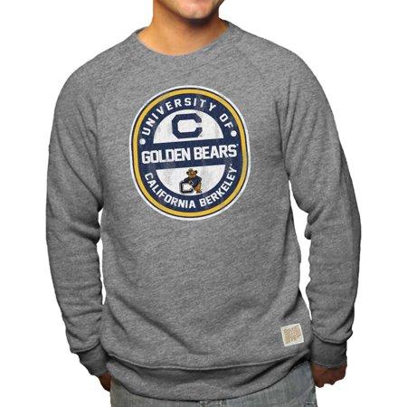 Cal Golden Bears Adult NCAA Ring And Logo Distressed Crewneck Sweatshirt - Gray