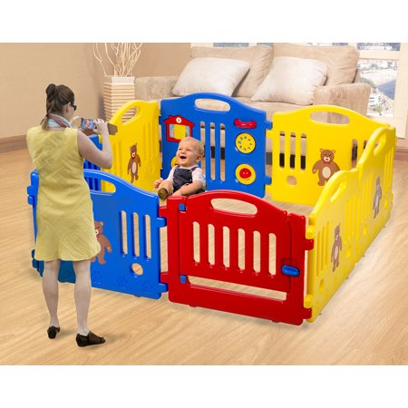 Baby Playpen Kid 8 Panel Safety Play Center Yard Baby Playpen Kids Home Indoor Outdoor (Play Safety Tips)