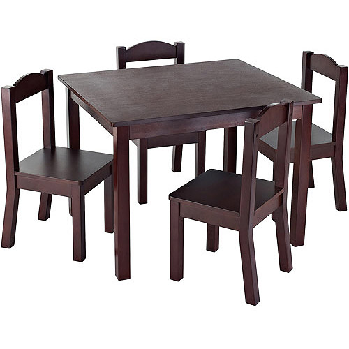 Tot Tutors Kids Wood Table And 4 Chairs Set, Multiple Colors   Walmart.com