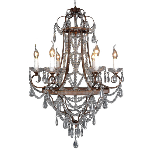 Yosemite Home Decor RL1026C-6RR Chandelier
