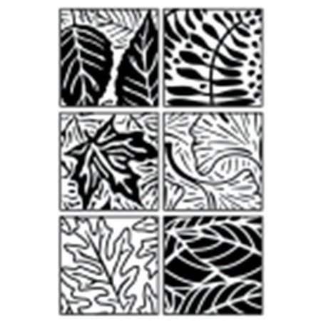 Jack Richeson Artist Paintstik Leaves Rubbing Plate - 7 x 7 in. - Set - - Leaf Rubbings