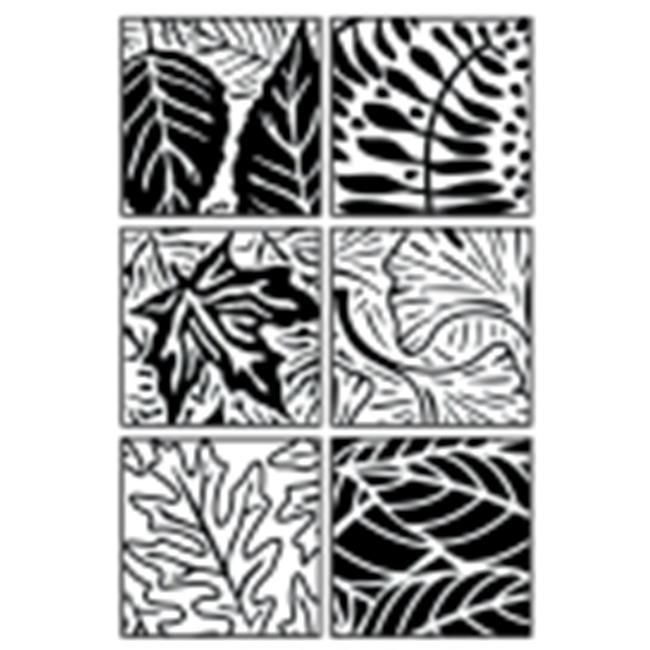 Jack Richeson Artist Paintstik Leaves Rubbing Plate - 7 x 7 in. - Set - 6