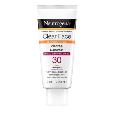 Neutrogena Clear Face Liquid Lotion Sunscreen with SPF 30, 3 fl. oz
