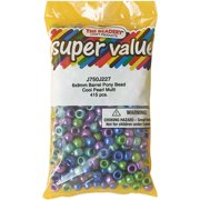 Pony Beads 6mmX9mm 415/Pkg-Cool Pearl Multicolor