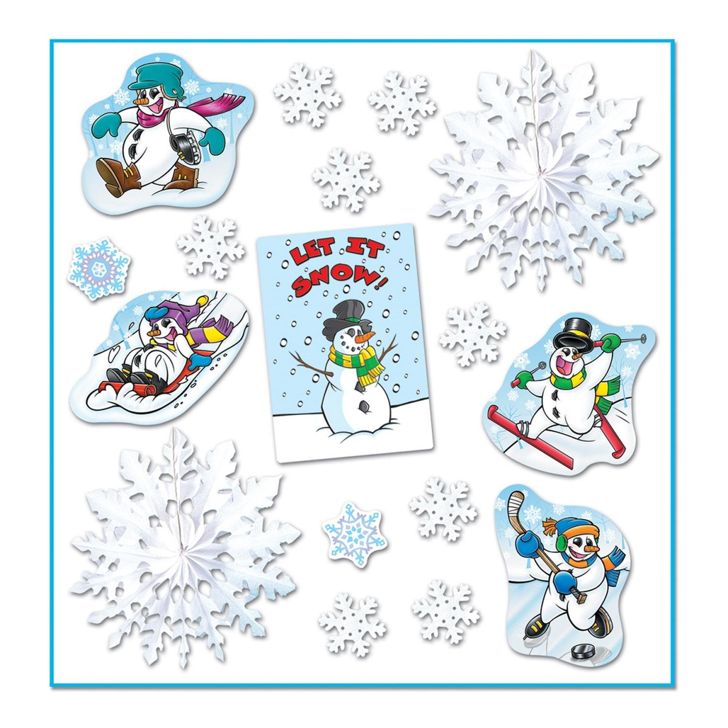 "Pack of 102 Winter Wonderland Themed ""Let It Snow"" Decorama Cutout Decorations"