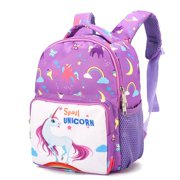 Bowinr Cute Unicorn Backpack Book Bag for Kindergarten Little Girls Boys Kids Backpacks School Bag School Season Gift