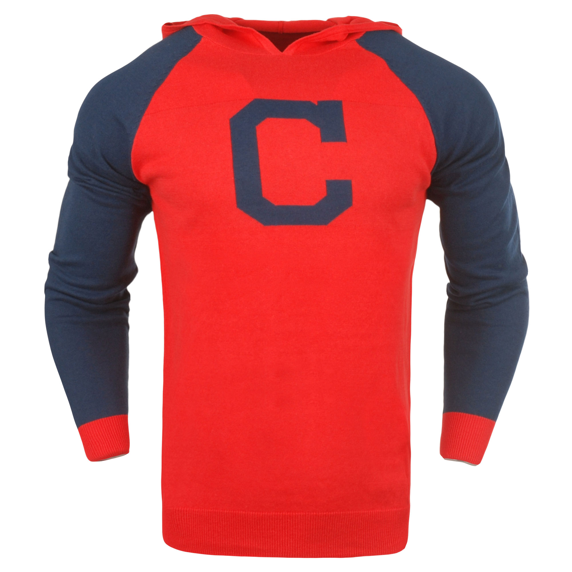 Cleveland Indians Team Logo Pullover Hoodie - Red