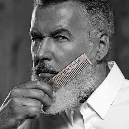 Ejoyous Gentleman Shape Stainless Steel Portable Pocket Beard Shaving Comb Mustache Hair , Portable Beard Comb, Shaving Comb - image 3 of 8