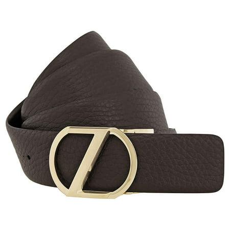 Zegna Men's XXL Reversible Calfskin Leather Belt - Brown (Zegna Calfskin Belt)