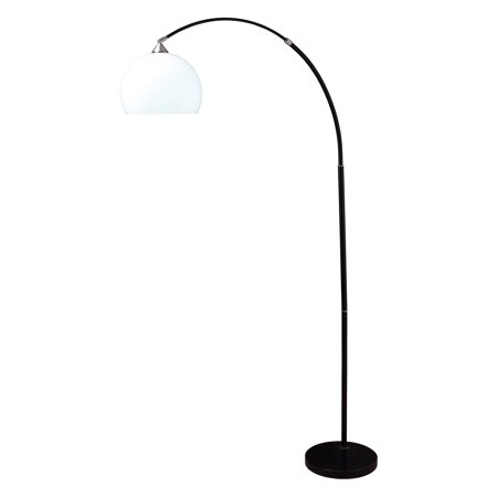 76 Modern Black Arc Floor Lamp On Marble Base