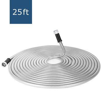 FGY Stainless Steel Garden Hose 25 FT Ultra Durable Metal Hose