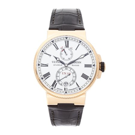 Pre-Owned Ulysse Nardin Watch Marine Chronometer Manufacture 1186-122/40 (15 Month WatchBox
