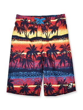 Laguna Boys UPF 50+ Lattice Palms Swim Trunks, Sizes 8-16
