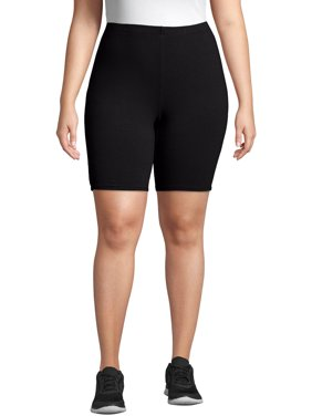 Just My Size Women's Plus Size Stretch Jersey Bike Short