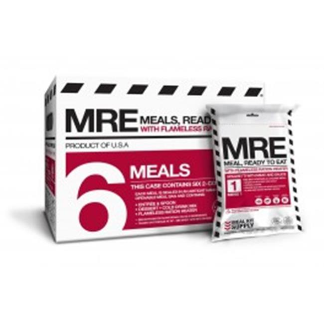 Meal Kit Supply 6-Pack of 2-Course MREs with Heaters by Meal Kit Supply
