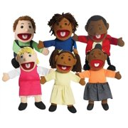 Ethnic Children Puppets - Set of 6