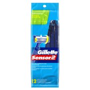 Gillette Sensor2 Pivoting Head Men's Disposable Razors, 12 Ct