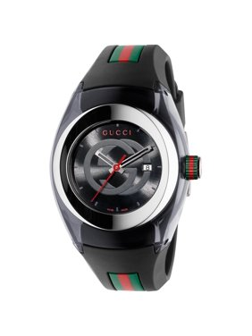 e7490da3c4cbf2 Product Image Unisex Black Swiss Sync Striped Rubber Strap Watch