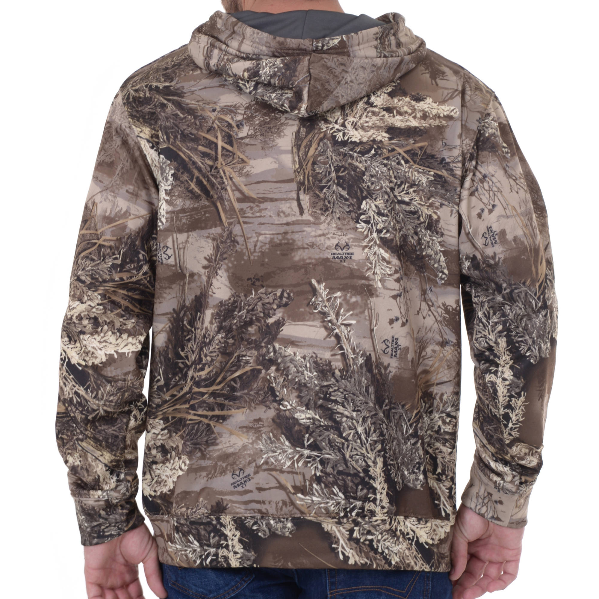 b6da22ed4a036 Realtree & Mossy Oak Breakup Country Men's Lightweight Camo Performance  Fleece Hoodie - Walmart.com