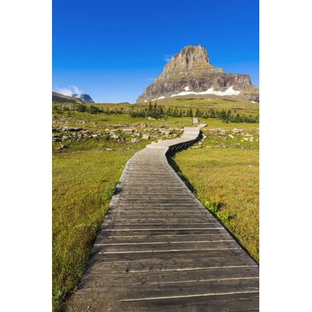 Hidden Lake Trail at Logan Pass under Clements Mountain, Glacier National Park, Montana Print Wall Art By Russ