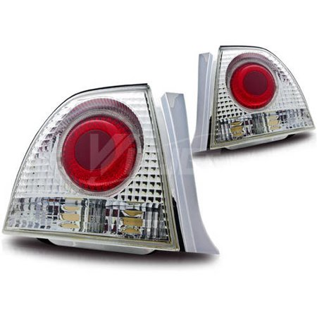 Altezza Tail Lights with Halo for 94-95 Honda Accord 2/4-Door, Chrome/Clear