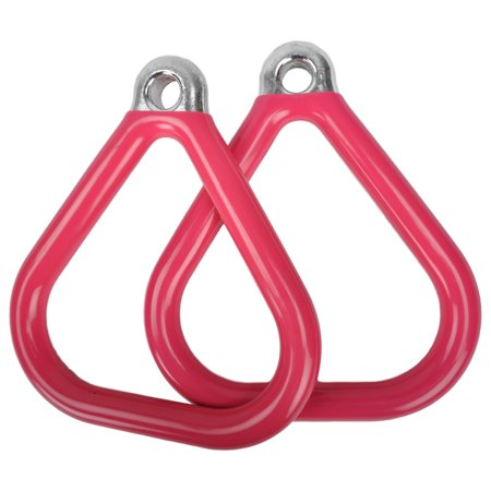 Swing Set Stuff Inc. Commercial Coated Triangle Trapeze Rings (Pink)