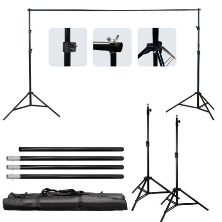 Ktaxon 10ft Adjustable Background Support Stand Photography Video Backdrop Kit Black (Cinderella Backdrop)