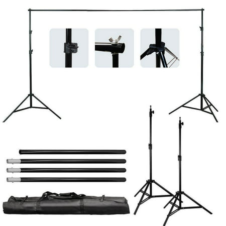 Ktaxon 10ft Adjustable Background Support Stand Photography Video Backdrop Kit Black